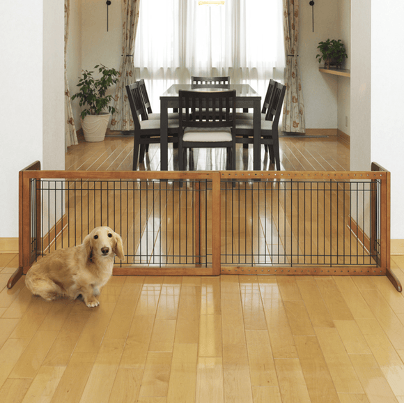 Freestanding Pet Gate Large Gates Richell 39.8-71.3 x 17.7 x 20.1
