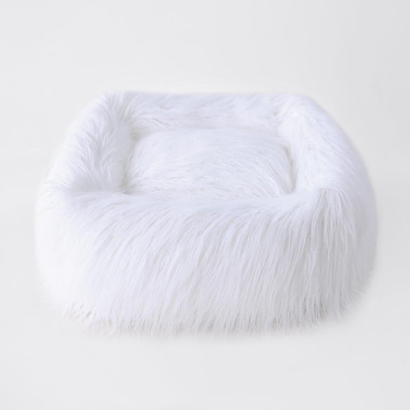 Himalayan Yak Bed ~ White - Le Pet Luxe