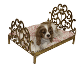Italian Gold Scroll Headboard Pet Bed - Le Pet Luxe