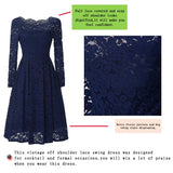349a1f61464e FEIBUSHI Robe Femme Embroidery Vintage Lace Dress Women Off Shoulder Dress  Long Sleeve Casual Evening Party
