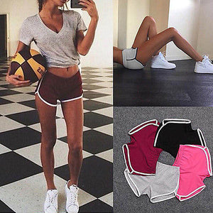 New Summer Women Casual Mini Shorts Workout Waistband Skinny Shorts Patchwork Women Summer Shorts-lilugal