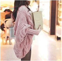 Autumn Winter Knitted Cardigans Coat Women 2015 Fashion Long Sleeve Batwing Poncho Sweater Beautiful Womans Crochet Cardigan-lilugal
