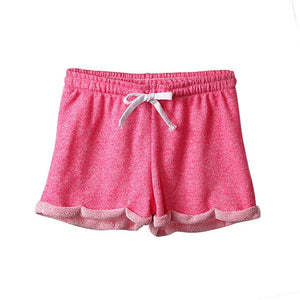 Summer Women Modal Cotton Shorts Casual Fashion Candy Color Elastic Waist Female Esportes Shorts-lilugal