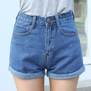High Waist Denim Shorts Plus Size XL Female Short Jeans for Women 2016 Summer Ladies Hot Shorts-lilugal