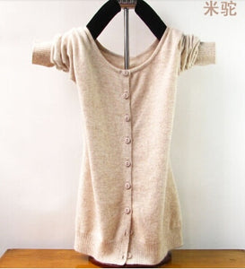 springtime New style Cashmere Sweater Women Cardigan Sweater Female O-Neck Knitted Coat Slim Sweater big yards Size 12 Colors-lilugal