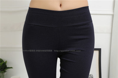 New Arrival Spring and Autumn style leggings women Denim Woven Pants plus size XXL-5XL High Waist Candy Color women's trousers-lilugal
