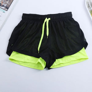 CHLEISURE S-L 6 Colors Women Short for Workout Fashion Casual Active Short Feminino Fake Two Breathable Shorts Women-lilugal