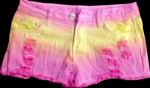 new summer 2017 for Women vintage low waist shorts jeans tie dye Ripped Hole short jeans denim female distress cutoffs shorts-lilugal