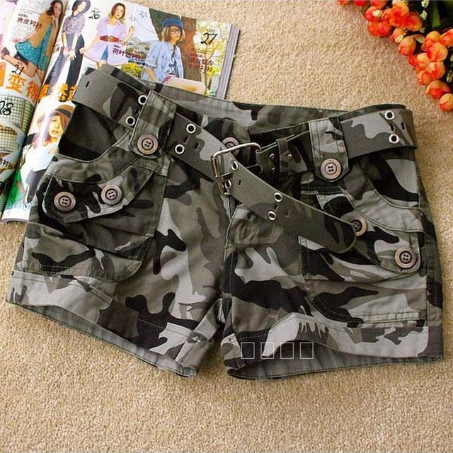 Wholesale High quality 2017 summer fashion camouflage shorts,women casual camo cargo shorts army military hot shorts W484-lilugal
