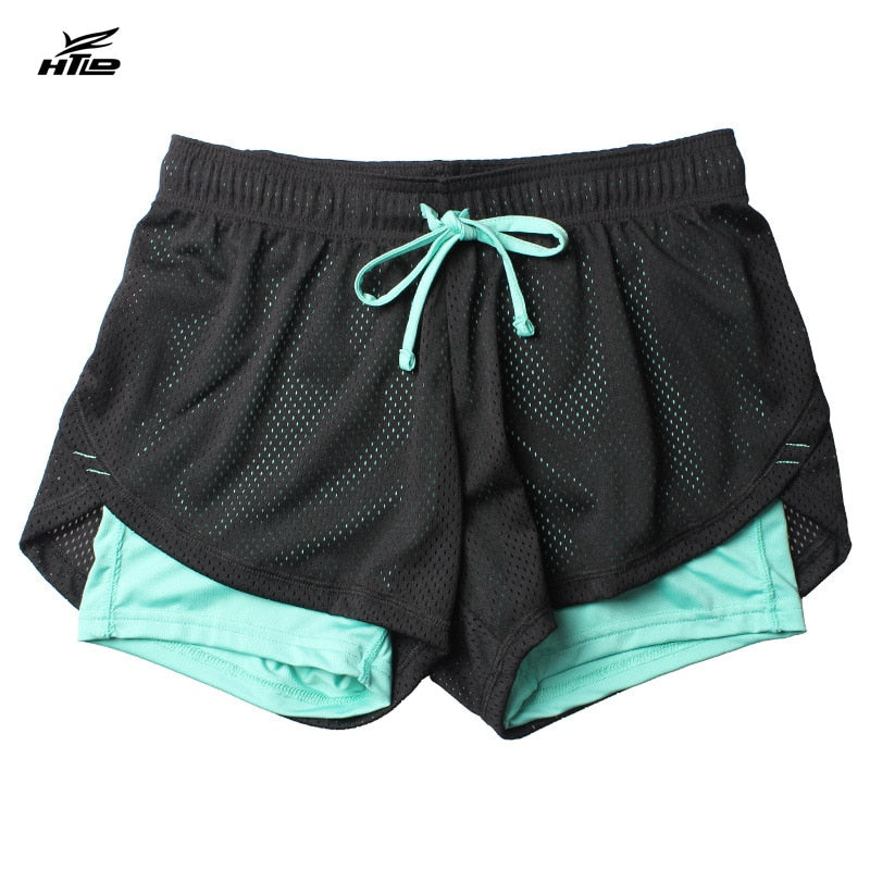 HTLD Summer Double Layer Shorts Women Skinny Fitness Shorts Women Elastic Casual Shorts Female Joggings pantalones cortos mujer-lilugal
