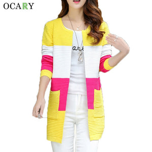 Elegant Women Sweaters Spring Summer Thin Cardigans Knitted Long Cardigan Cotton Haut Femme Ete Blusas Gilet Size XL-lilugal