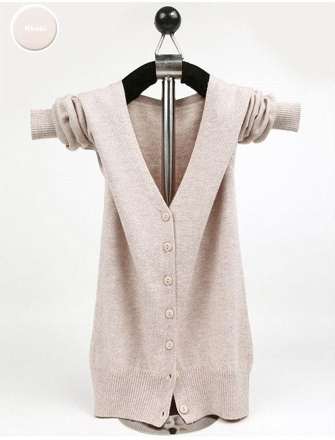 zocept Fashion Cashmere Blend Sweater Women Spring Autumn Winter Soft Warm Short Cardigans Female V-Neck Full Sleeve Jacket Coat-lilugal