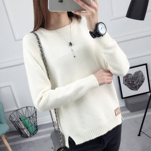 OHCLOTHING 2017 new spring Korean Short all-match winter sweater knitted shirt with long sleeves loose women sweater pullover-lilugal