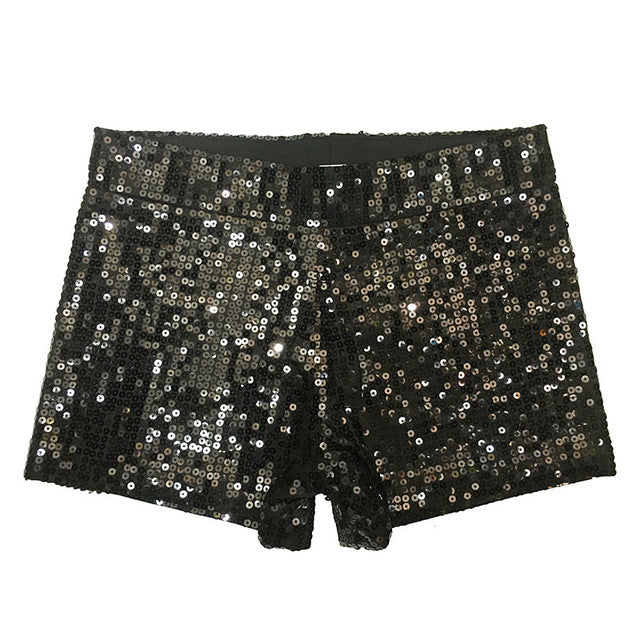 Women Tap Stretch Glittering Sequin Mini Shorts DS nightclub Dance Costume Sequin shorts Jazz Street theatrical shorts-lilugal