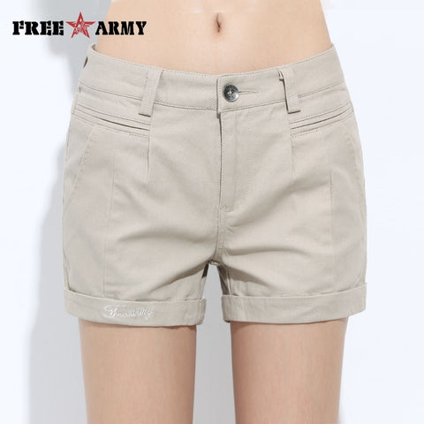 Womens Shorts Summer Fashion Casual Cotton 4 Solid Colors Short Pants Brand Clothing Black Sexy Hot Woman Shorts Size 26-31-lilugal