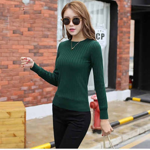 2017 Winter plus Thick Velvet knit sweater Bottoming shirt Velvet lining warm Pullover Sweater female Fashion Thick sweater-lilugal