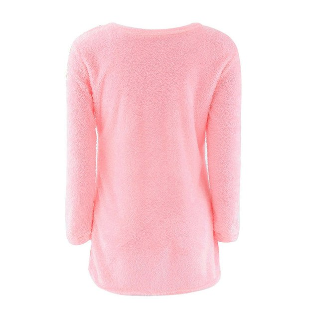 Fashion Sexy Ladies Sweater Coat Long Sleeve Soft Smooth Warm-lilugal