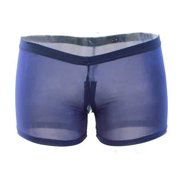 Zipper Open the crotch Mesh Shorts for women Sexy Transparent Under-wear Ultra-thin ultra-short short pants one size-lilugal