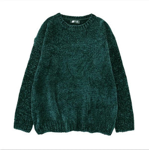 NIJIUDING thick warm turtleneck oversized chenille sweaters long sleeve winter autumn basic loose pullovers ladies causal tops-lilugal