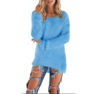 Fashion Women Long Sleeve Knitted Pullover Loose Sweater Jumper Tops Knitwear W710-lilugal