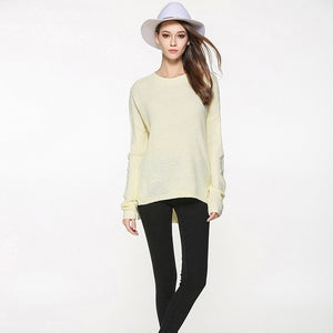 2018 Spring Autumn New Fashion Women O-neck Thin Basic Women Sweater Casual Warm Knitted Pullovers Female Burderry Plus Size-lilugal