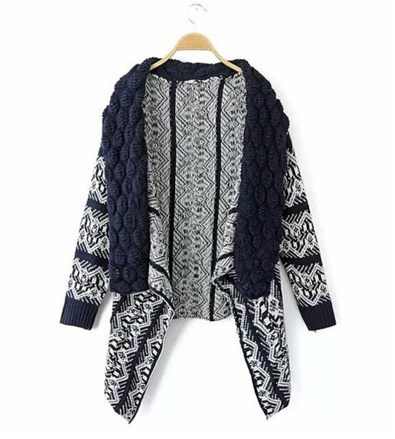 2018 Autumn and Winter Cardigan Fashion Women Sweater Women Big Casual Knitting Sweater Women outwear 3 colors sweater plus size-lilugal
