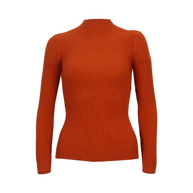 Wixra Warm and Charm 2017 Knitted Turtleneck Sweater Fashion Women Autumn High Stretch Pullover Long Sleeve Sweaters Pull Femme-lilugal