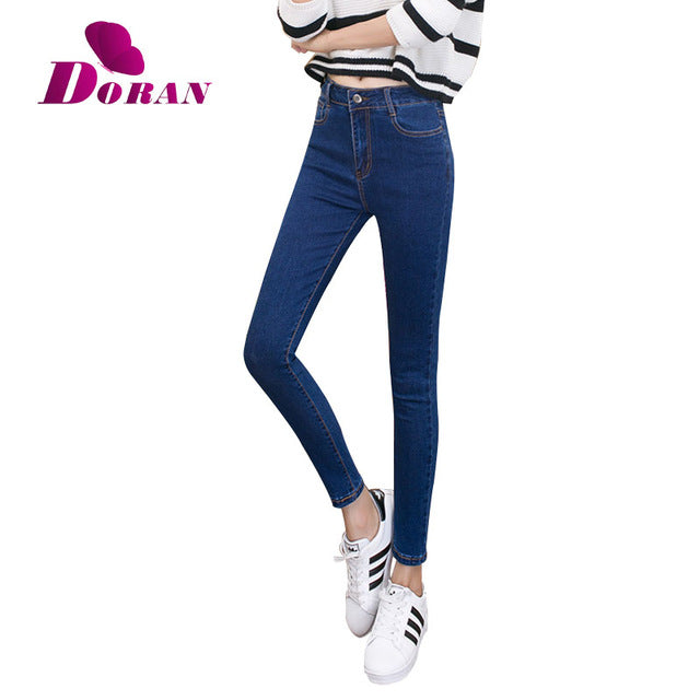 womens colored skinny jeans plus size women's jeans with high waist jeans black blue female Denim Pants Trousers Pencil Skinny-lilugal