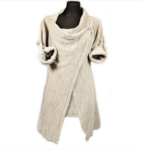 Sweater cardigan New Spring and autumn Fashion Women's Long Sleeve Knitted Coats Jumper Knitwear Casual Outwear Coat 3544-lilugal