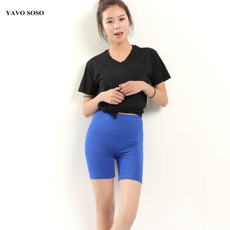 YAVO SOSO 2018 Candy Colors Modal shorts women summer style plus size 5XL women's short-lilugal