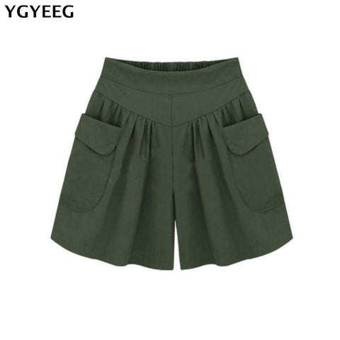YGYEEG Summer Street Leisure Short Pants Women All-match Loose Solid Soft Cotton Casual Female Stretch Shorts Plus Size S-5XL-lilugal