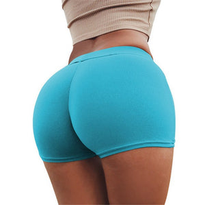 Summer Sexy Push Up Shorts Women Candy Colors Fitness Booty Short Feminino Workout Elastic Waist Short New 2018-lilugal