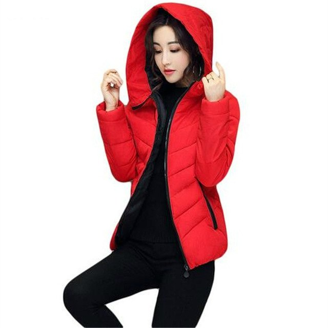 bed862f01 High Brand Winter Women Jackets Padded Slim Hooded Beautiful Coats Cotton  A-line Female Parkas
