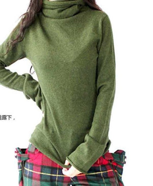 Hot Sale Winter Pullover Women Sweater Cashmere Warm Pullovers 2018 Fashion Clothes TurtLeneck Sweaters Free Shipping-lilugal