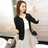 New Women Sweater Spring 2018 Autumn Winter Fashion Elegant Peach Embroidery Slim Girl's Knitted Cardigans Tops Female Cardigan-lilugal