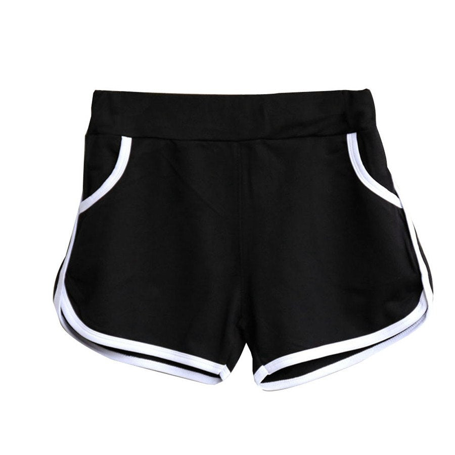 #5505 New Design New Summer Women high waist leisure black Shorts Workout Waistband Skinny Short-lilugal