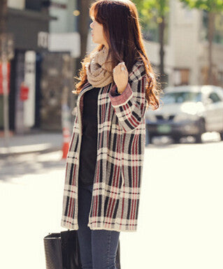 2018 New Fashion WomenStriped Casual Loose Sweater Coat Knitting Long Cardigan Outwear Loose Long Cape Coat Sweaters SW302-lilugal
