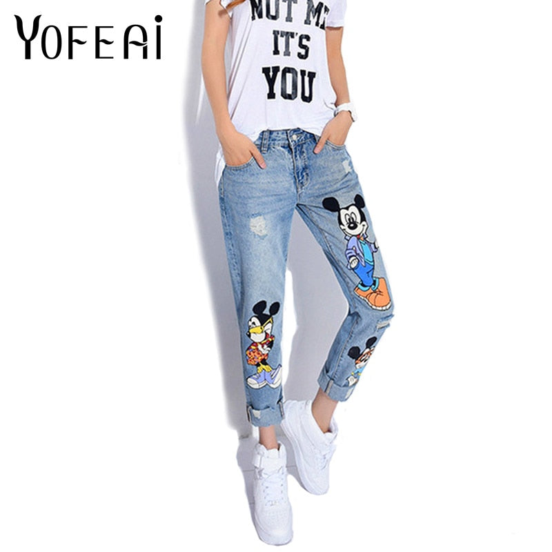 YOFEAI 2018 Jeans Women Casual Denim Ankle-Length Boyfriend Pants Women Print Pants Casual Harem Pants Female Plus Size 4XL 5XL-lilugal