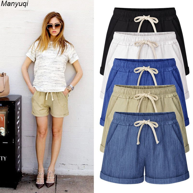 Summer denim shorts for women harem big size shorts cotton women hot shorts 7 colors M-6XL-lilugal