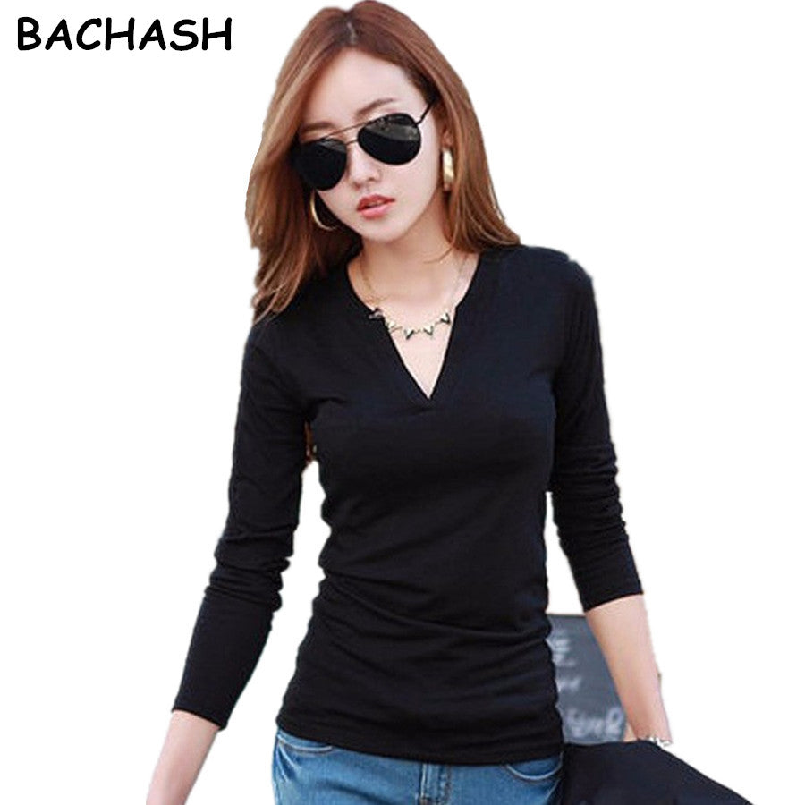 BACHASH New 2018 High Quality Fashion Spring Autumn Winter Sweater Women Pullovers Long Sleeve Fashion Girl Clothing 15 Color-lilugal