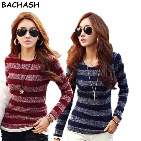 BACHASH New 2018 High Quality Fashion Spring Autumn Winter Sweater Women Wool Pullovers Long Sleeve Fashion Women Clothing Red-lilugal