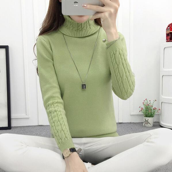 Women Turtleneck Winter Sweater Women 2018 Long Sleeve Knitted Women Sweaters And Pullovers Female Jumper Tricot Tops LY571-lilugal