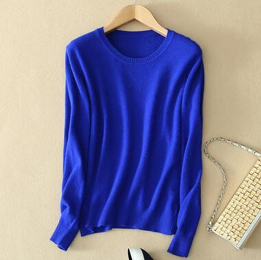 UVKKC Woman Sweater Series Winter Knitted Cashmere Pullovers O Neck Slim Elastic Plus Size Top Solid Sweater For Woman-lilugal
