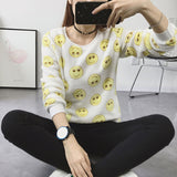 Spring Winter Sweater Women Top Lovely Lesser Bears Print Knitted Sweater 2018 Casual Slim Fashion Pullover For Women B0259-lilugal