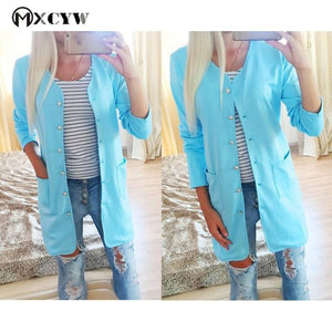 Women's Cardigan Fashion Casual Loose Long Sleeves Lady'S Sweater Jacket Solid Knitting Top Pull Female Clothes Cardigans-lilugal