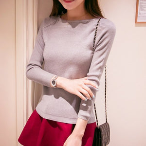 OHCLOTHING 2017 Autumn Winter cashmere fashion sexy big o-neck women sweaters and pullover warm Long sleeve Knitted OH100-lilugal