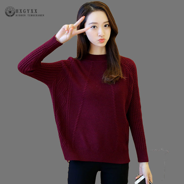 Casual Autumn Winter Knitted Sweater 2018 Knit High Elastic Jumper Women Sweaters And Pullovers Female Pull Femme Tops Jersey O5-lilugal