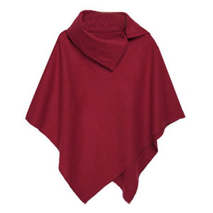 Autumn&Winter 4 Colors Women Coat Poncho Casual Overcoat Zipper Loose Pullover Cloak Sweater Cape Outwear 2018 Fashion Hot Sale-lilugal