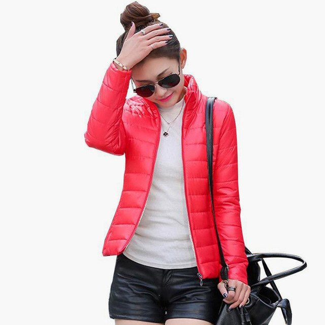 HYDIBER 2018 NEW Brand Women Jacket To Keep Warm In Winter Padded Silk Ladies Fashion Casual Slim Padded Winter Jacket 8 Colors-lilugal