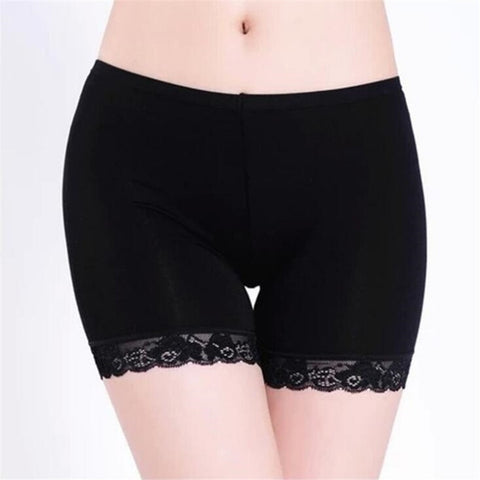 YRRETY Summer Hot 2018 Fashion Black White Free Size Women Girl Elastic Crotches Casual Soft Shorts High Waist Lace Short Femme-lilugal